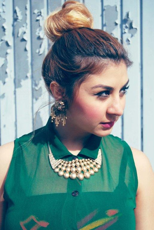 vintage dress lion earrings