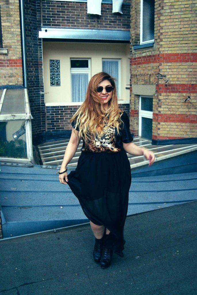 waniea tiger top maxi skirt